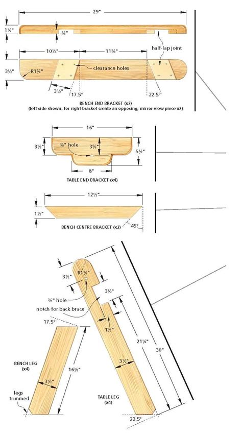 picnic table bench plans free bench table chair may 2015