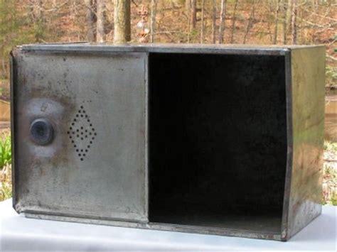 shabby antique metal tin bread box drawer liner insert