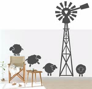 Wallpaper For Kids Bathroom - sku code ws97 karoo windpomp with sheep windpomp