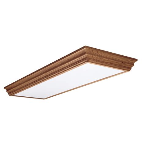 Decorative Fluorescent Kitchen Lighting Cooper Lighting Dt432 4 Light Residential Decorative Wood Trim Fluorescent Flush Mount Ceiling