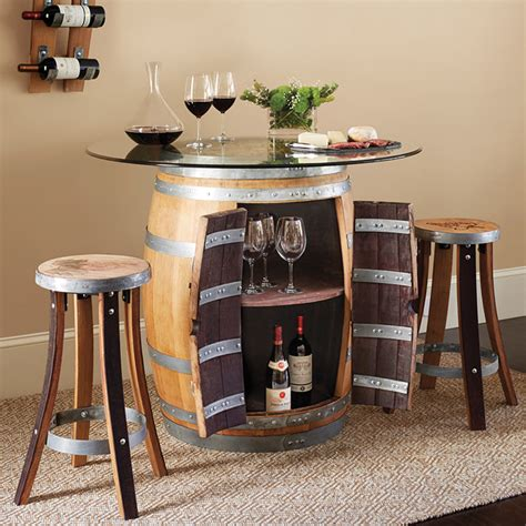 barrel pub table grape seat stools set