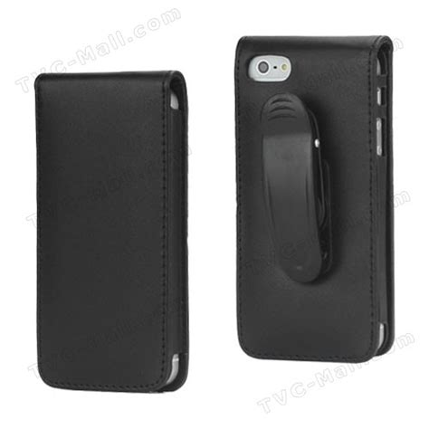 for iphone 5 holster leather with 180 degree rotating