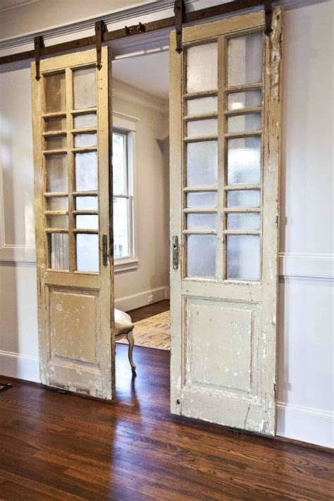 Modern And Rustic Interior Sliding Barn Door Designs Reclaimed Sliding Barn Doors