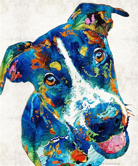 colorful dogs colorful happy go lucky by painting by