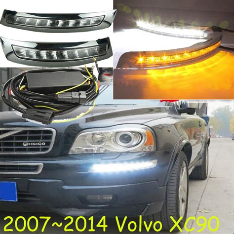 car bumper headlight  volvo xc daytime light car accessories led drl headlamp
