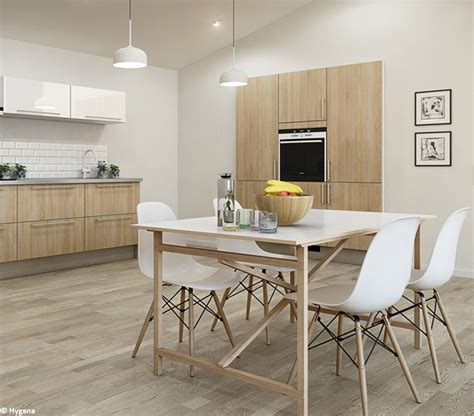 deco cuisine bois clair davaus cuisine gris et bois clair avec des id 233 es