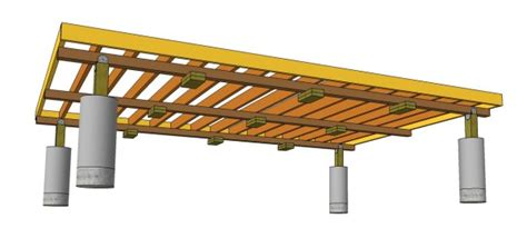 Shed Floor Support by Shed Foundation Piers