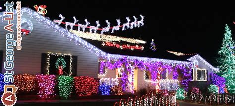 a list the best christmas lights in town st george news