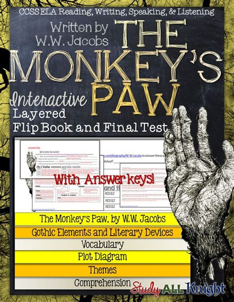 themes in literature answer key best 25 the monkey s paw ideas on pinterest teaching