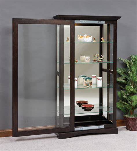 Mission Sliding Door Curio Cabinet Sliding Door Sliding Glass Door Curio Cabinet