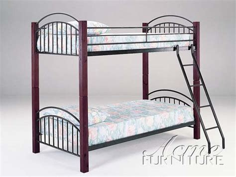 Wood And Metal Futon Bunk Bed Wood And Metal Futon Bunk Bed Bm Furnititure
