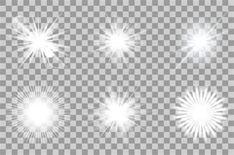 lights vector vector white light effects flash objects creative market