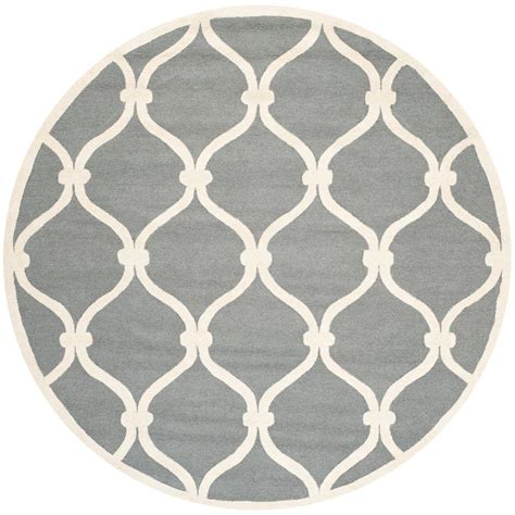 rugs 6 ft safavieh cambridge gray ivory 6 ft x 6 ft area rug cam710d 6r the home depot