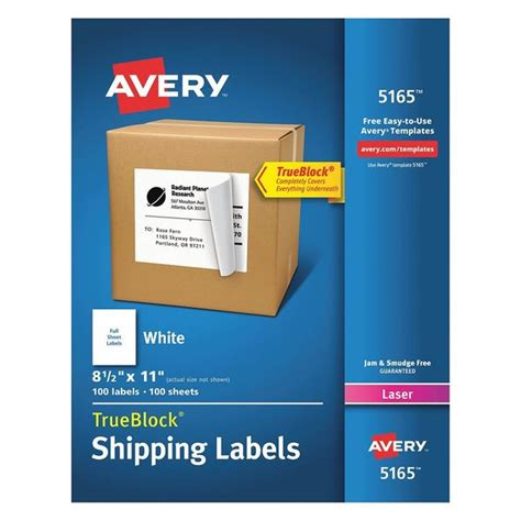 avery shipping labels template avery avery shipping label for laser printers 5165 white