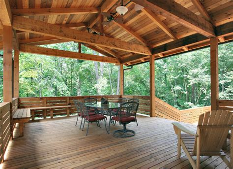 House Plans With Screened Porches cedar porch