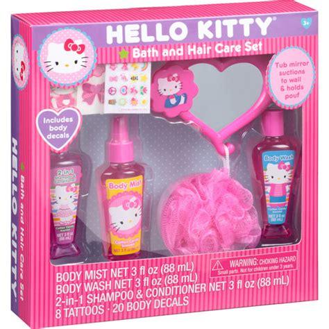 walmart hello kitty bathroom set hello kitty bath and hair care gift set 12 pc walmart com