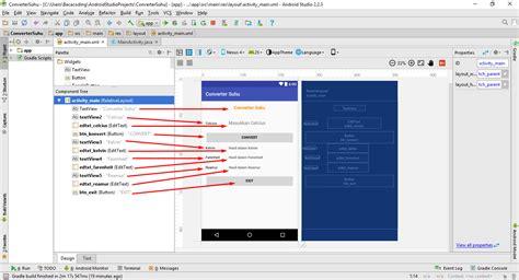 membuat aplikasi android dengan coding cara membuat aplikasi konversi suhu dengan android studio