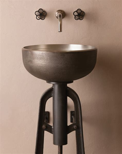 industrial bathroom sink industrial style vessel sink and console by stone forest ore