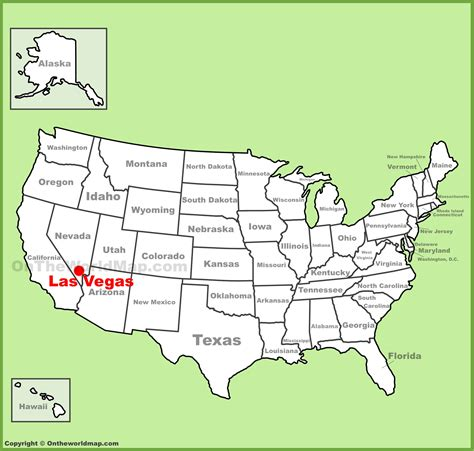 map usa las vegas las vegas location on the u s map