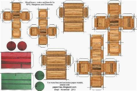 gi joe file card template papermau wood boxes crates and barrels paper models for