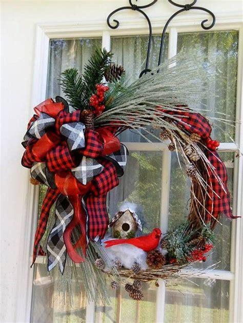 grapevine wreath rustic wreath winter wreath front door