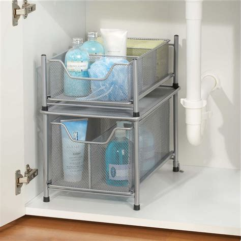 The Sink Organizers by The Sink Slide Out Cabinet Drawer Storage Organizer