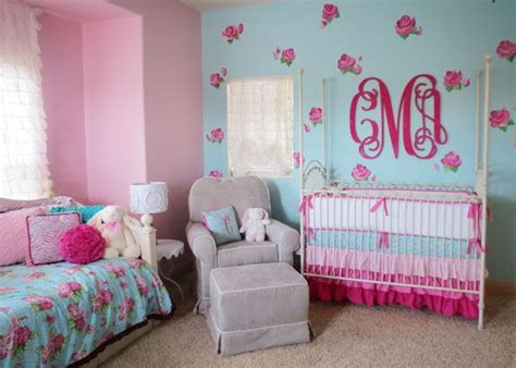 girly bed spread love love love the blue and floral 76 best images about pink aqua nursery on pinterest