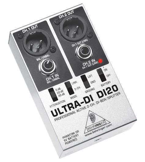 Mixer Behringer Di Malang behringer di20 ultra di 2 channel active direct box