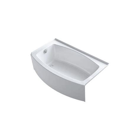 kohler expanse bathtub kohler expanse 5 ft left drain soaking tub in white k
