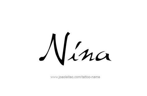nina name tattoo designs
