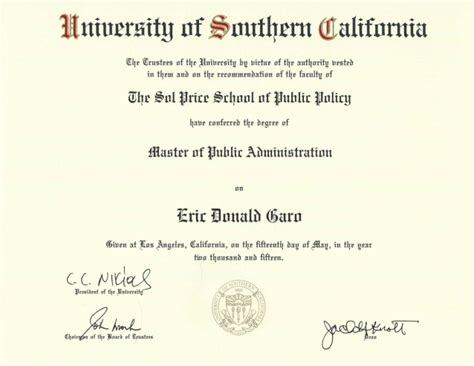 Does Usc An Mba Program by Usc Diploma