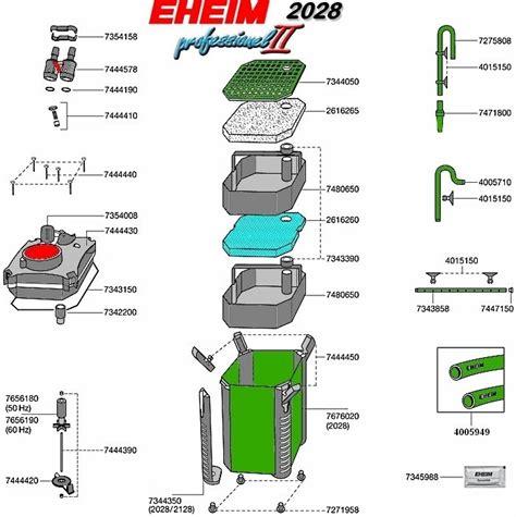 Pompa Aquarium Manual eheim ersatzteile au 223 enfilter professionel ii 2028