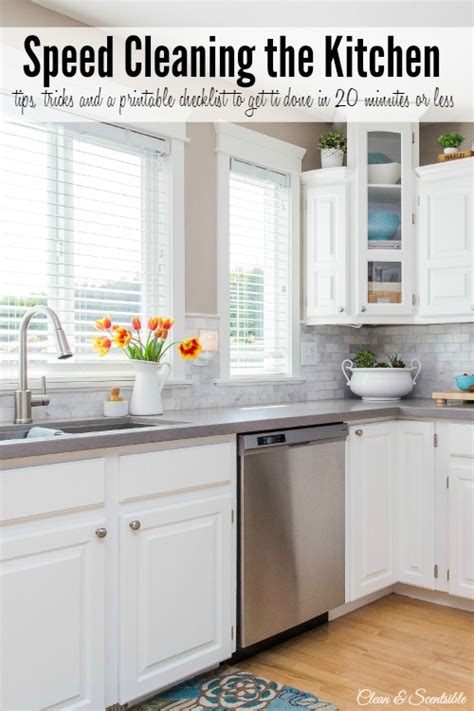 how to clean the kitchen how to speed clean the kitchen clean and scentsible