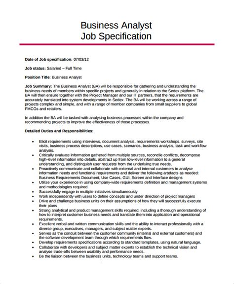 sle job description template 32 free documents