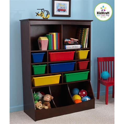 children storage simple kids bedroom with kidkraft espresso wall toy