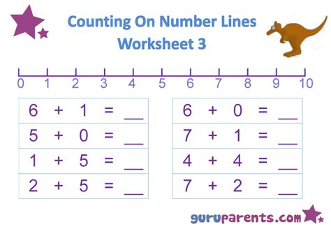 printable number line subtraction worksheets number line worksheets guruparents