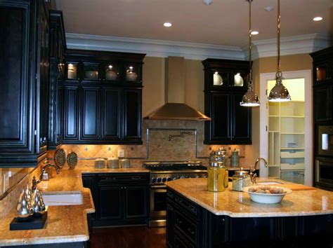 dark cabinet kitchen ideas kitchen the right ideas for the dark painted kitchen