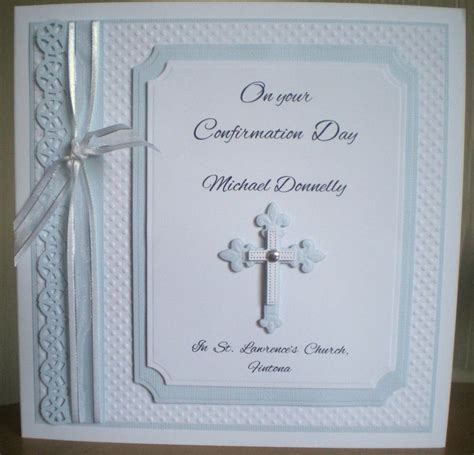 Handmade Confirmation Cards - confirmation card using spellbinders dies and tonic