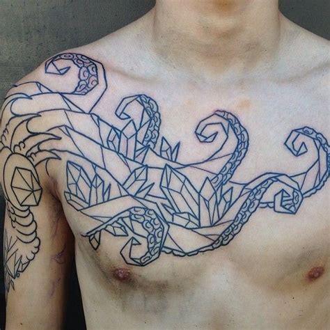 minimalist octopus tattoo geometric octopus tattoo ink and flesh pinterest