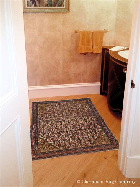 powder room rugs botanical designs in area size rugs bring depth to powder room