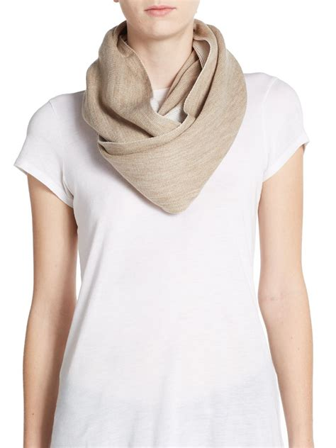 calvin klein two tone infinity scarf in brown lyst