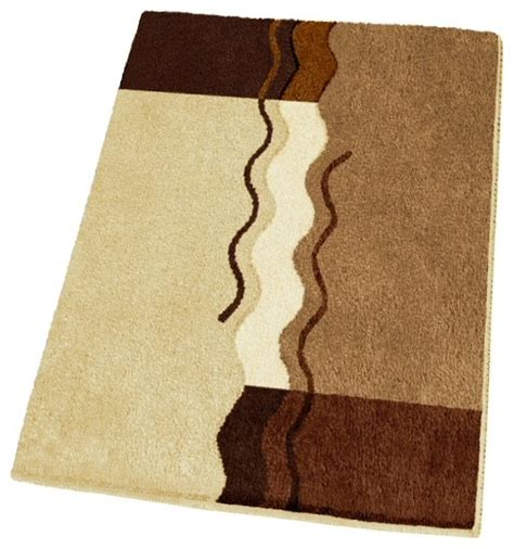 Non Slip Small Modern Brown Bath Rug 21 7 Quot X 25 6 Modern Bathroom Rug