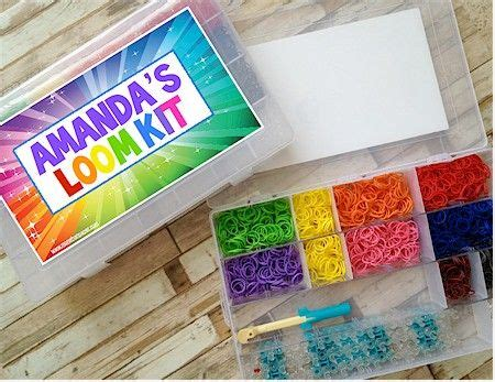 Refill Ring O Rainbow Loom Sembur personalized rainbow loom kit sure to be the