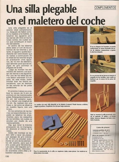 como hacer sillas de madera las 25 mejores ideas sobre sillas de madera plegables en