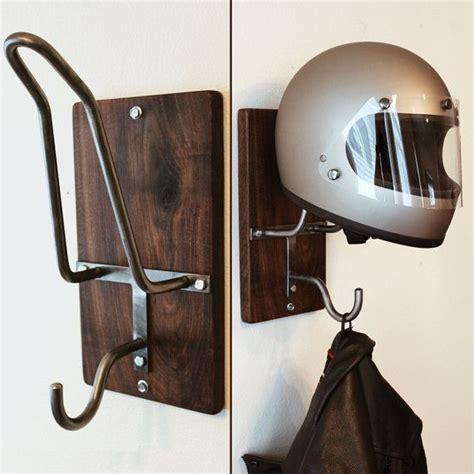 motorcycle helmets and jackets handmade motorcycle helmet rack jacket hook by
