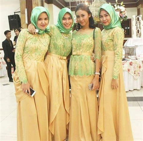 Gamis Pesta Pernikahan Terbaru model kebaya seragam trend 2018 untuk pernikahan acara