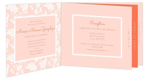 design your own quinceanera invitation floral peach quinceanera invitation booklet quinceanera