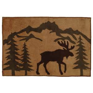 Antler Table Moose Silhouette Kitchen Bath Rug