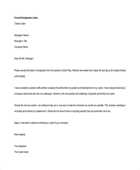 Format Of Resign Letter From Company by Resignation Letter Sle Resignation Letter For Company Resign Resign Letter Sle 2016