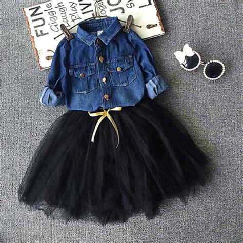 baby denim shirt toddler baby denim shirt tutu skirt set